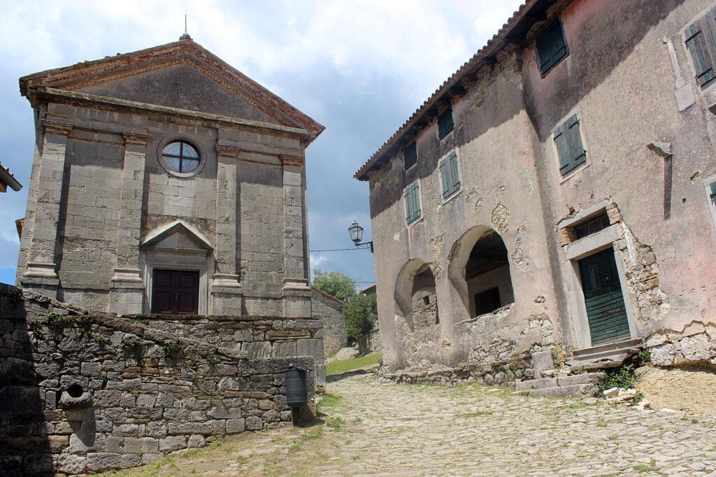 Church in hum croatia