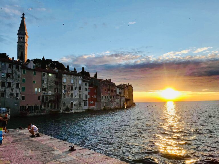 rovinj sunset with Church